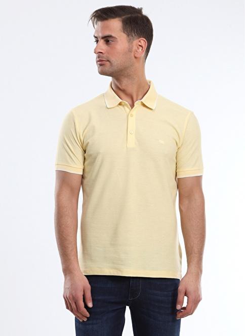 Kip Polo Yaka Tişört Sarı
